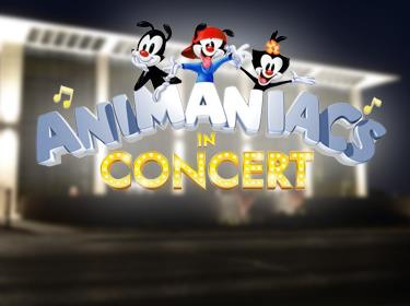 The Madison Center for the Arts building with Animaniacs in Concert logo