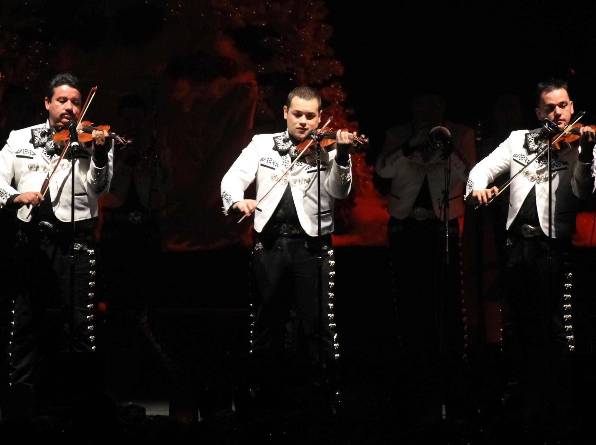 Mariachi musicians on stage
